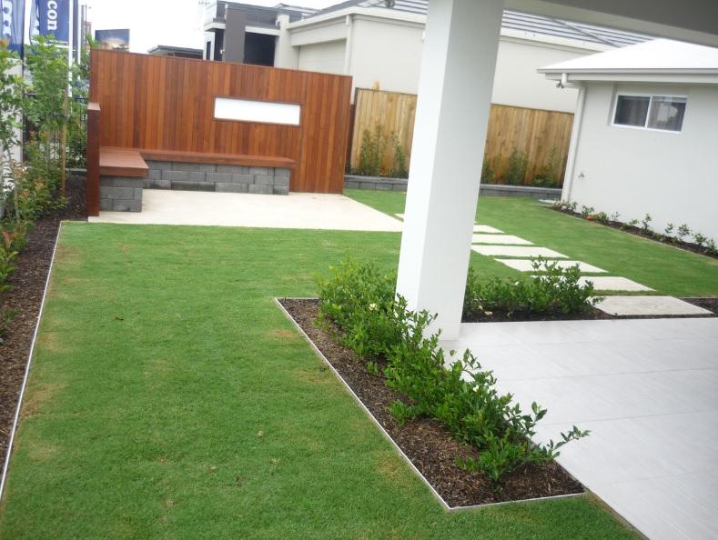 back yard landscape